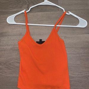 Orange top shop tank top